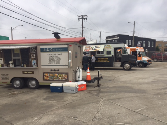 The food trucks at the Central Filling Station on a