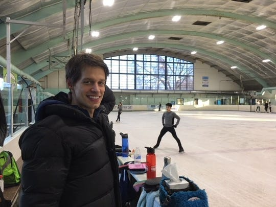 Three-time Austrian Olympian Viktor Pfeiffer began training at the Skating Club of Wilmington in 2008 and now coaches there.