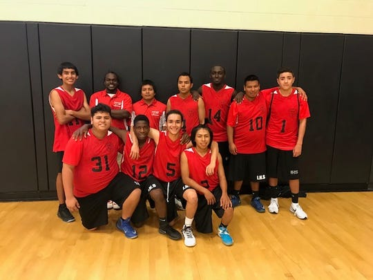 The Immokalee Unified Champion School basketball team