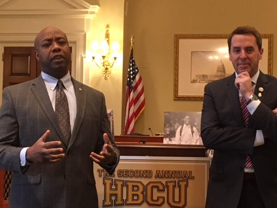 Sen. Tim Scott, R-S.C., and Rep. Mark Walker, R-N.C.,