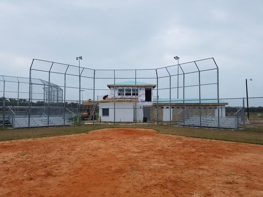 The rebuilt Ingleside Little League park.