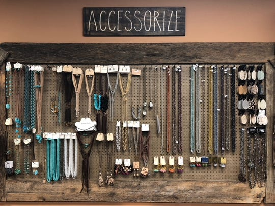 A large selection of necklaces, earrings and other