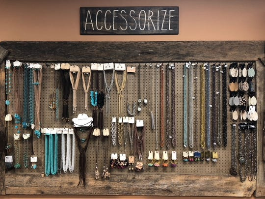 A large selection of necklaces, earrings and other accessories put the finishing touch on any outfit.