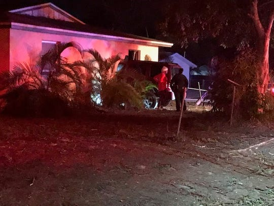 A Jeep SUV crashed into a home on Delta Street in south