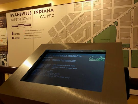 Interactive exhibits at the Evansville African American