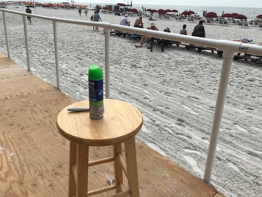 """The props for the Cincinnati Firefighters Show at the Lani Kai on Fort Myers Beach were set up early Sunday. Emcee Angelo """"Scar"""" Scarlato does a hilarious bald-headed shaving skit that kicks off the show each year."""