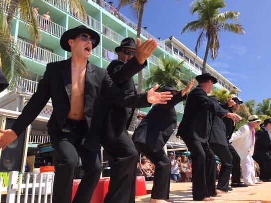 The Cincinnati Firemen performing at the Lani Kai on Fort Myers Beach