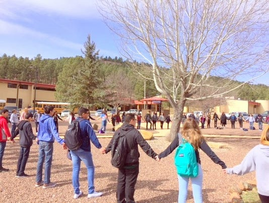 students observe silence tribute