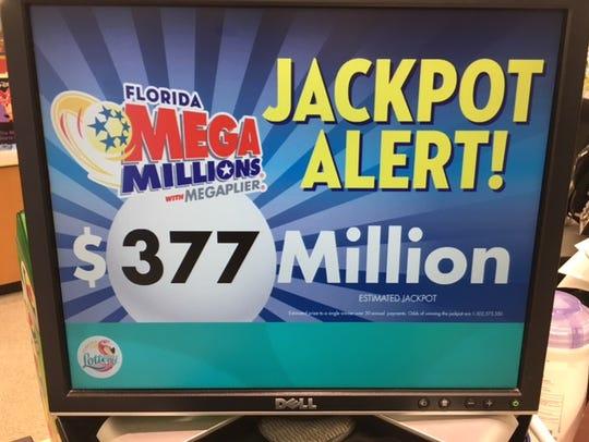 Mega Millions jackpot continues to rise.