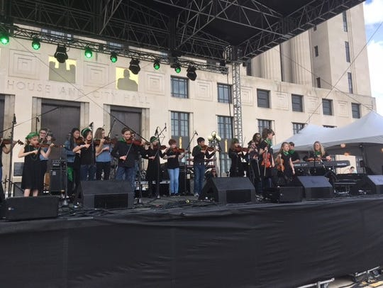 Fiddle Frenzy, of the Blair School of Music, performs