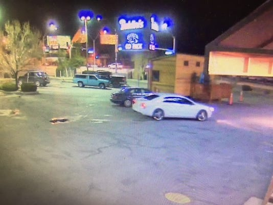 Security photos of suspect car in Baldini's robbery