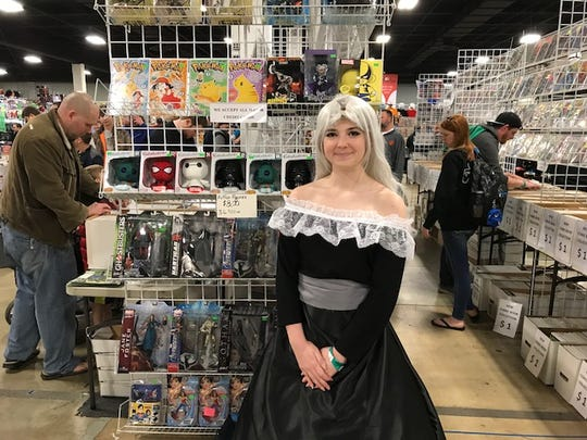 The South Carolina Comicon 2018 drew thousands of fans, many of whom dressed up as their favorite characters. Ari Theriot came as Mirajane from Fairy Tail.