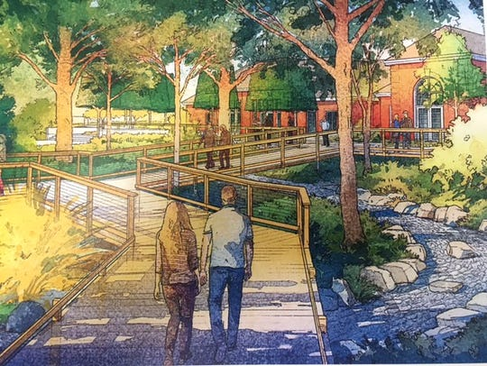 "The Cypress Garden Boardwalk will be built at Kingwood Center Gardens as part of the ""Honoring the Past, Growing the Future"" capital campaign project."