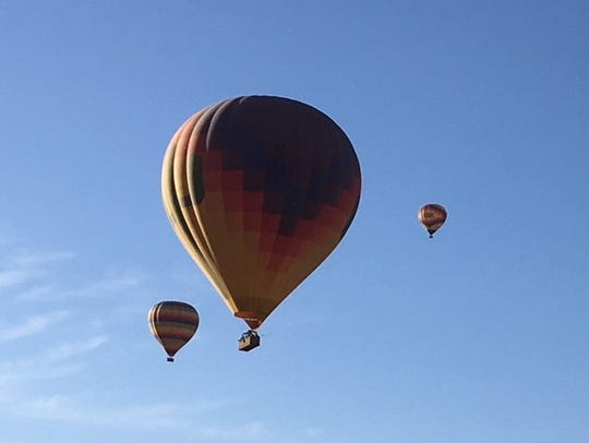 Ronnie and Becky Gandy were on board a hot air balloon