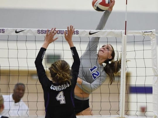 A file photo of Annika Kerns, who played volleyball for McQueen High School