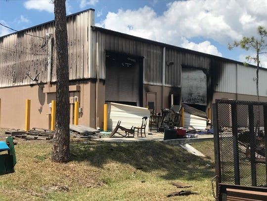 A fire caused extensive damage to a building housing