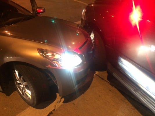 car hits West Milwaukee squad car