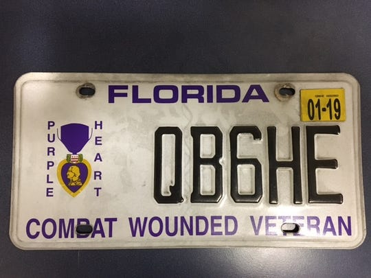 License plate used by Edward Louis Liroff