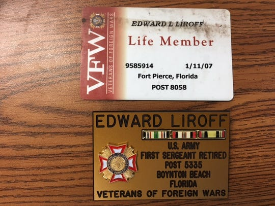 Cards belonging to Edward Louis Liroff