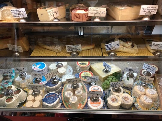 Some of the 150 different cheeses available at Summit Cheese Shop.