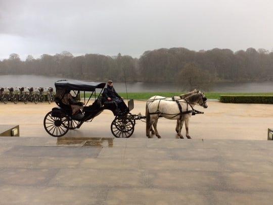 A horse-drawn carriage at Ballyfin.