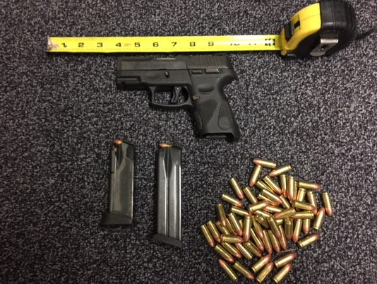 The gun and ammunition that was found in Tavaress Lashun Smith Jr's backpack at Port St. Lucie High School.