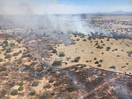 The Indian Meadow Fire is burning north of Williams.