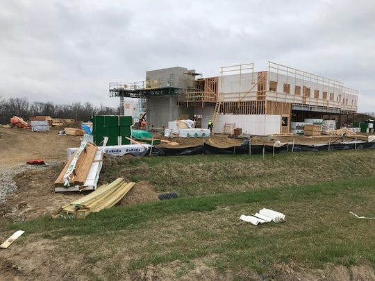 Terra State Community College's student housing facility is under construction and scheduled to open in August for fall classes. The residence hall will have 225 units.