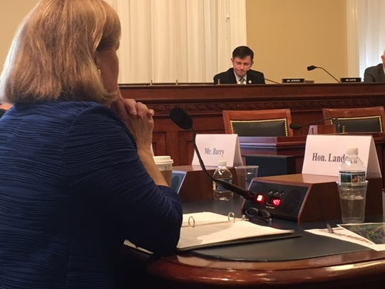 Rep. Mike Johnson, R-La., questions witnesses, including