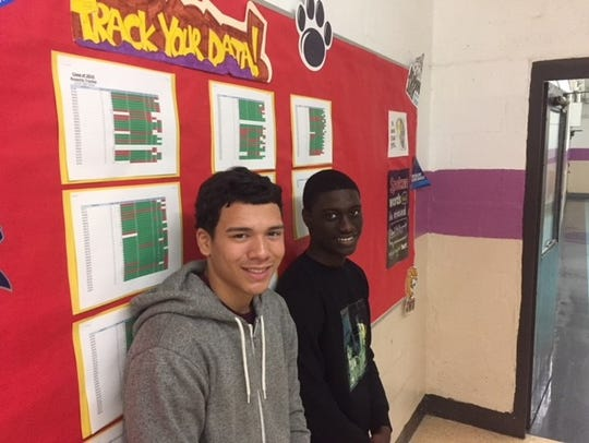 Chris Lopez, left, and Eugene Bryan, both juniors at
