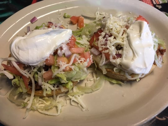 Two Sopes Dinner is new at La Cocina Mexicana azada,