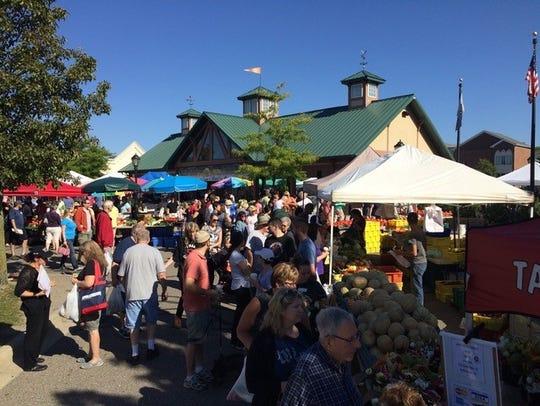 The Farmington Farmers Market draws thousands of people