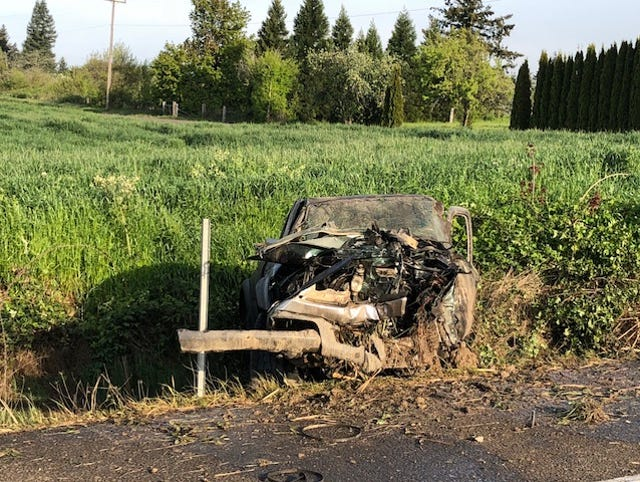 Log truck driver dead in Highway 99W crash near Monmouth