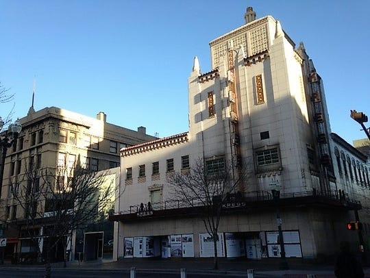 The historic Kress Building at 211 N. Mesa St., and