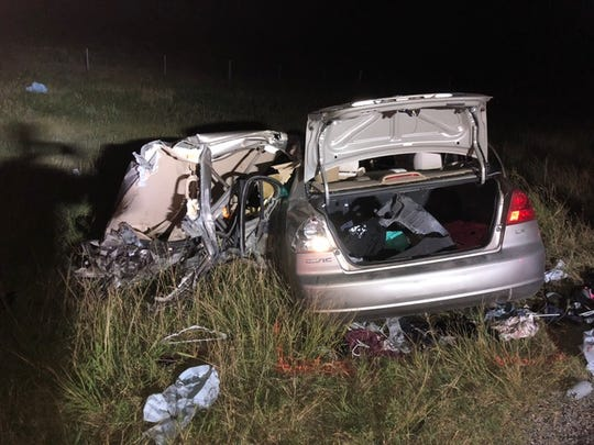 A two-vehicle crash in Aransas County killed four people