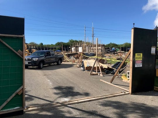 Construction of a Guam branch of Jollibee, the most