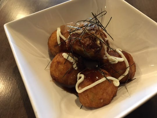 Deep-fried octopus fritters at Ichimi Sushi & Grill in Battle Creek