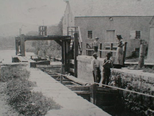 The Morris Canal Lock 3 West at Waterloo Village is