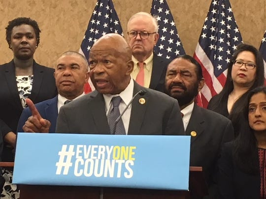 Rep. Elijah Cummings, D-Md., joined others at a press conference May 8, 2018 criticizing the addition of a question about citizenship to the Census.
