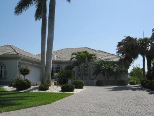 This home at 5701 Harbour Preserve Circle, Cape Coral,