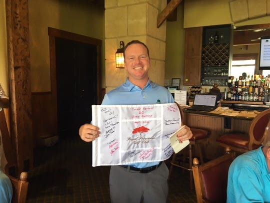 Justin Bertsch, a pro at the Hideout, shot a course-record