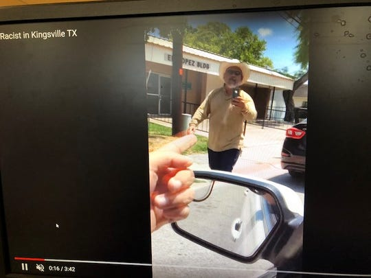 A man was seen in a racist tirade in a video taken by a Kingsville, Texas student.