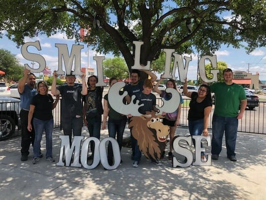 Smiling Moose, last day staff photo