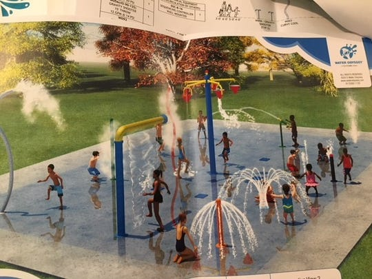 This photo gives an idea of what the Cheviot Splash Park will look like.