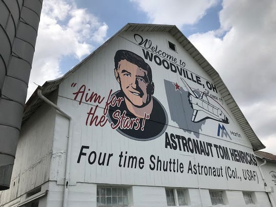 The Sandusky County Convention and Visitors Bureau unveiled its new stop on the Painted Barn Trail honoring NASA astronaut Tom Henricks. The barn is on U.S. 20 just east of Woodville.