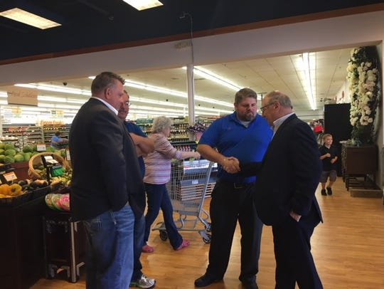 Mayor Eugene Parkison and city leaders officially welcomed Main Street Market owner Jason Potes to Lexington in May 2018 during a grand opening and ribbon cutting ceremony by the Mansfield Area Chamber of Commerce.