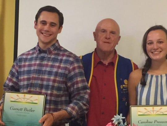 The Sunrise Optimist Club awarded the annual Sunrise