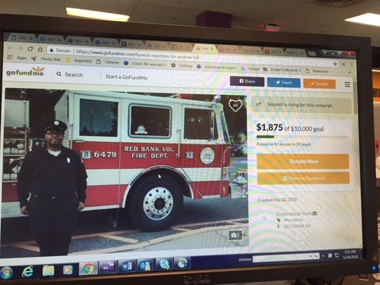 A GoFundMe page has been set up to raise money for funeral expenses for Andrew Hill, a Red Bank and Sea Bright volunteer firefighter who was stabbed to death in Red Bank on May 27, 2018.
