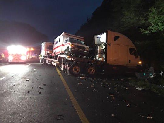 Crash scene on I-40 East in Roane County