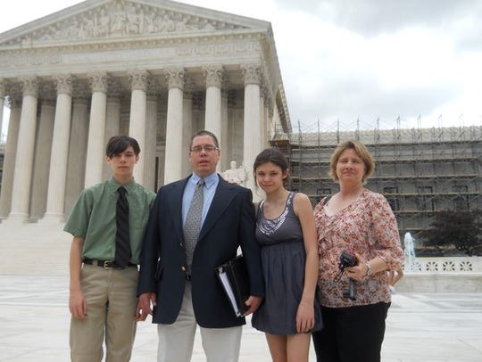 The Maines family where in Washington, D.C., in 2013,